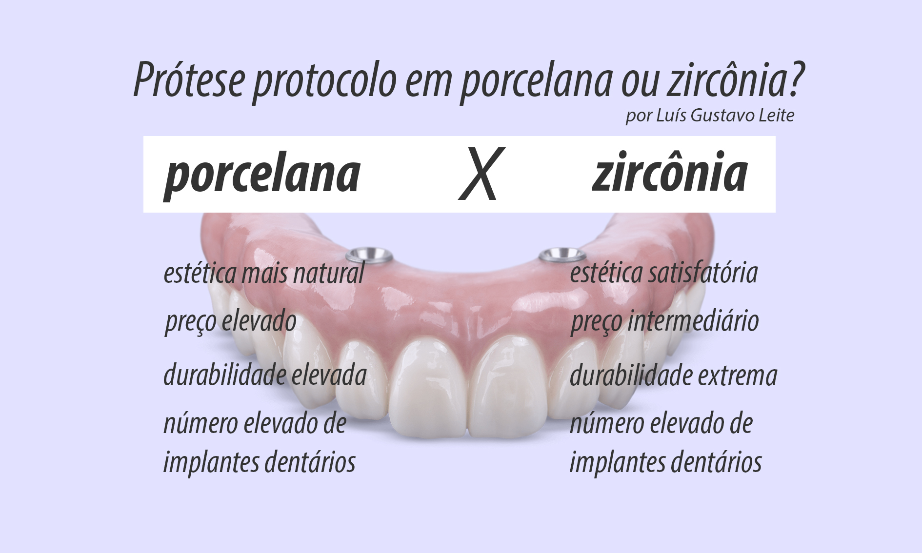 protese protocolo porcelana e zirconia diferenças